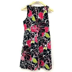 Banana Republic Womens Dress Floral Pleated Size 4